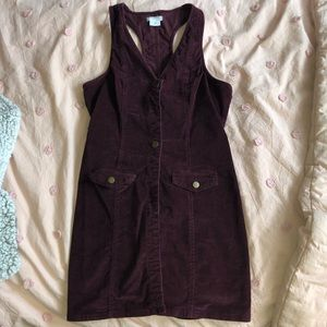 Corduroy Buttonup Dress | Urban Outfitters Size M